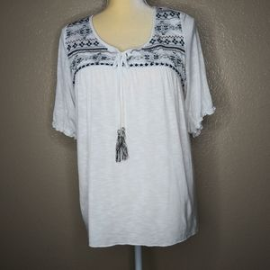 Live and Let Live Women's Boho Style Top